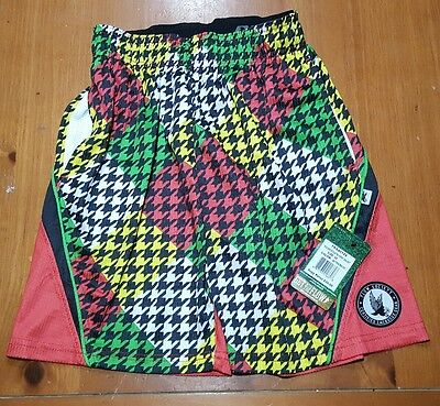Flow Society Shorts HOUNDSTOOTH Lacrosse Youth Kids SIZE XS Extra Small