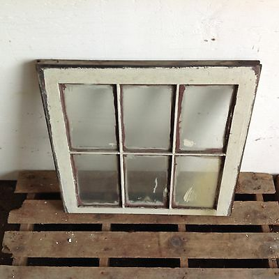 Vintage Sash Wood Window Picture Frame Shabby Chic 6 Pane Farmhouse ��
