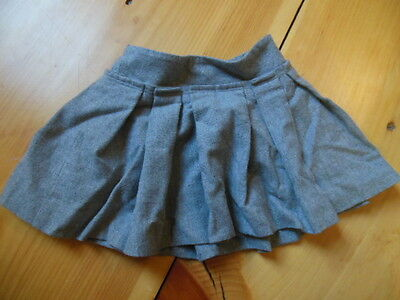 CREWCUTS 2T Gray Wool Pleated Skirt Lined