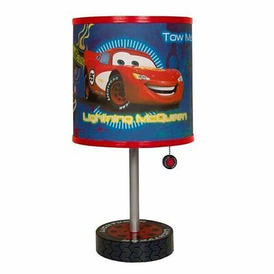 Disney Cars Table Lamp Kids Bedroom Room Boys Nursery Night Light Lighting New