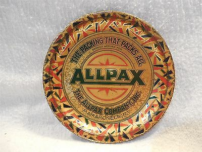 Vintage ALLPAX Packing Mamaroneck NY Tin Litho Advertising Tip Tray