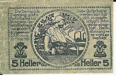Austria Dated 20 March 1920 5 Heller uncirculated