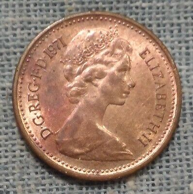 Great Britain   1971   1/2 Half New Penny   KM#914   UNC TONED