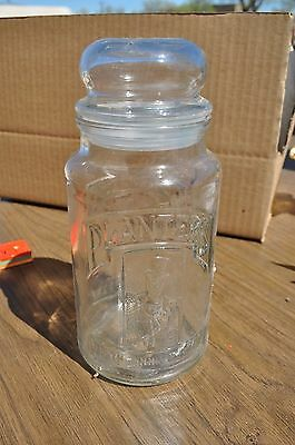 Vintage 75th Anniversary Planters Peanuts glass jar - canister 1901-1981