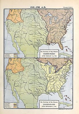 1905 map Territory Present United States AFTER February 10 1763 Labberton 64