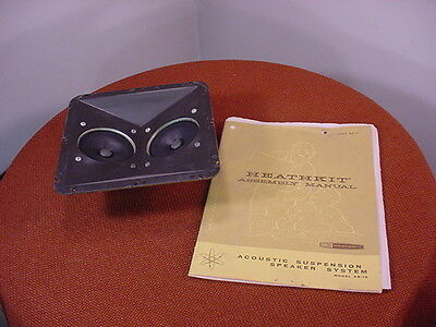 Vintage Heathkit Dual Tweeter Assembly from AS-10 Cabinet and Manual