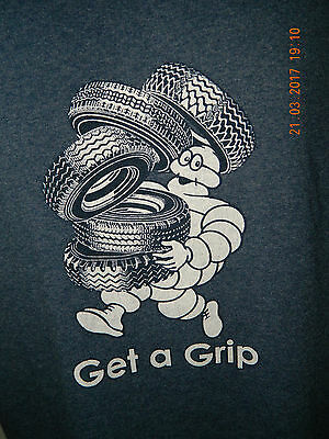Michelin Man Get A Grip T Shirt Michelin Collection Tires Large 50/50