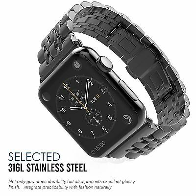 Stainless Steel Link Bracelet Watch band Strap For Apple Watch Series 2 3 42mm