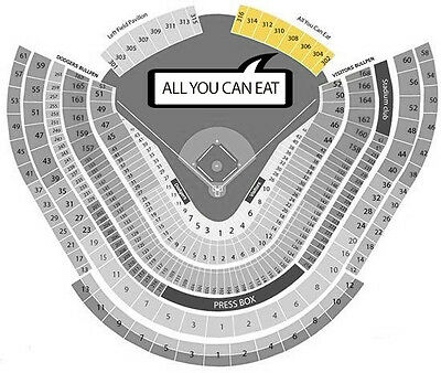 3 Tickets Los Angeles Dodgers vs San Diego Padres Tickets 04/03/17, Opening Day