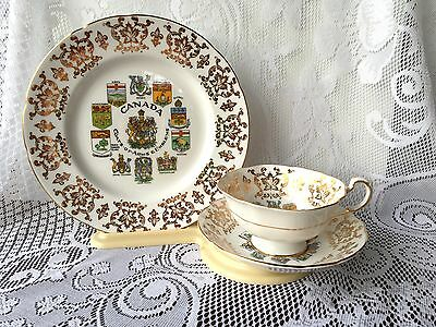 "Paragon England ""Canada Coat of Arms""  'trio' Tea Cup, Saucer & Plate 598"