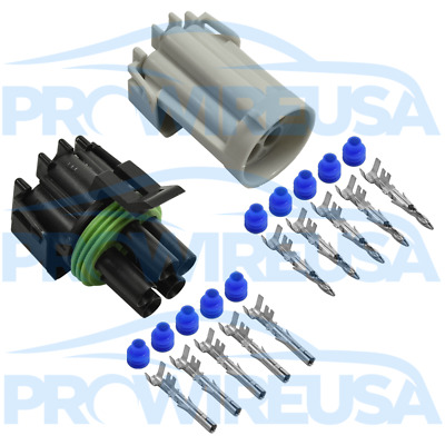Delphi Weather Pack 5 Pin Sealed Connector Kit 12-10 GA