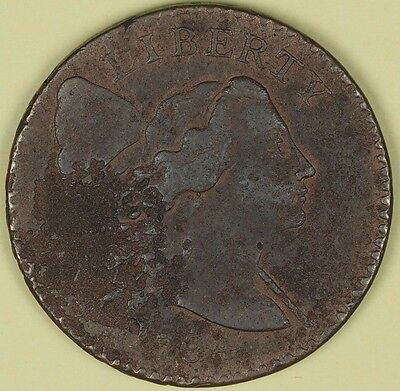 1794 1C S-24 Head of 1794 BN Flowing Hair Large Cent