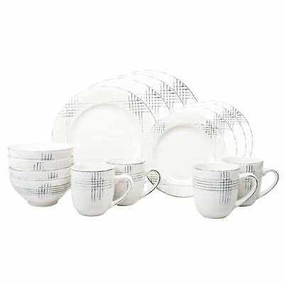 Benzer - Poplin Dove 16pc Dinner Set