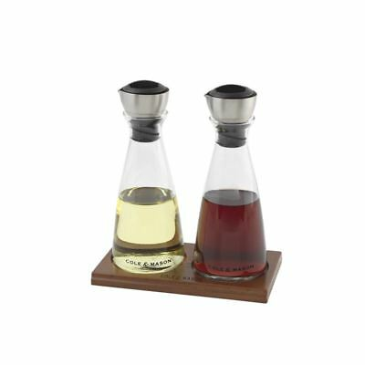 Cole & Mason - Flow Select Oil and Vinegar 350ml Pourer Set 20cm with Tray