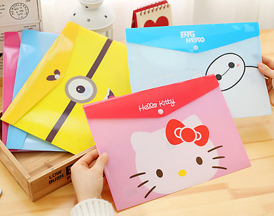 8 Style Cute Cartoon Animals PVC A4 File Folder Document Filing Bag Stationery