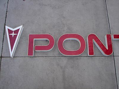 Pontiac Dealer Sign Arrowhead Emblem Letters LED Lighted Firebird Trans Am GTO