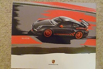 2011 Porsche 911 GT3 RS Coupe Showroom Advertising Poster RARE!! Awesome L@@K