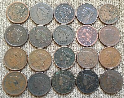 20 low grade Large Cents - Lot 3