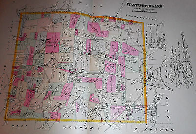 West Whiteland Township Chester County Pa 1883 Large Color Map Oakland Belvidere