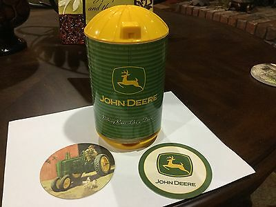 John Deere Silo With Coasters Rare