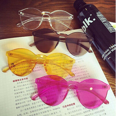 New Womens Mirrored Sunglasses Vintage Eyewear Retro Oversized EyeGlasses