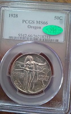 1928 Oregon Trail Commemorative Half Dollar PCGS MS66 CAC