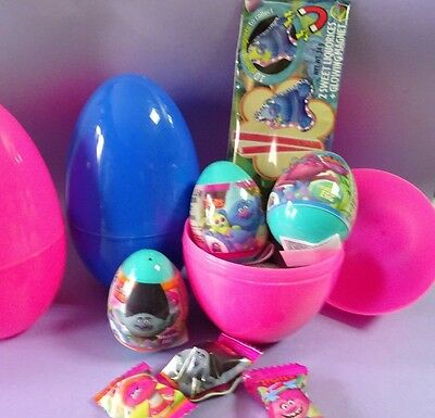 Surprise Eggs / Sweets TROLLS with theme related toys Party Bag Fillers Favors