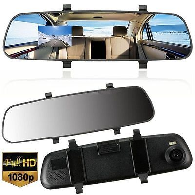 Car HD 1080P 2.7'' Video Recorder G-sensor Dash Cam Rearview Mirror Camera DV E1