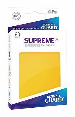 Ultimate Guard - Supreme UX Sleeves Standard Yellow 80 Pieces Card Sleeves Cases