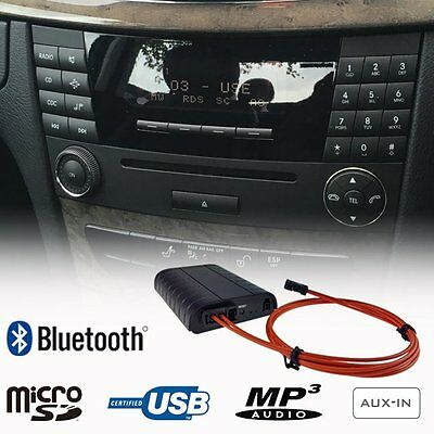 Bluetooth USB Fiber Optic Adapter Car Kit Mercedes Benz C E Class Audio 20