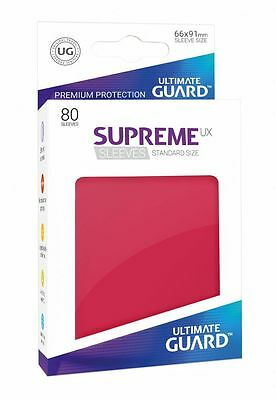 Ultimate Guard - Supreme UX Sleeves Standard Red 80 Pieces Card Sleeves Cases