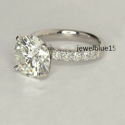 3.Ct Off White Round Cut Moissanite Antique Engagement Ring 925 Sterling Silver