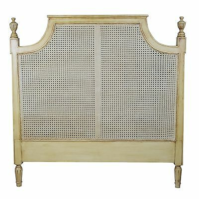 5ft King Size Vintage French Reproduction Style Provence Rattan Bed Headboard