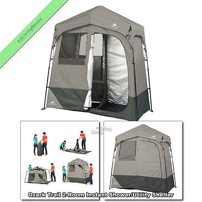 Ozark Trail Instant Shower Tent 7'x3.5' Portable Outdoor Camping Utility Shelter