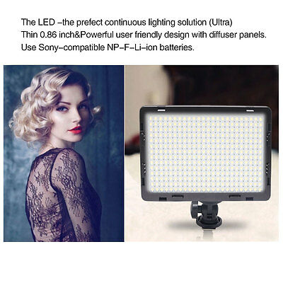 UK Mcoplus 340 CRI95+ Ultra-thin On-camera Video LED Light for DSLR Camcorder
