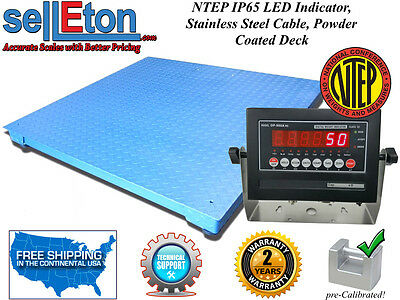 NEW NTEP (Legal) Industrial warehouse 4' x 4' Floor scale 5000 x 1 lb