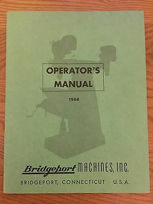 Bridgeport Milling Machine Operators Manual