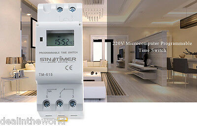 SINOTIMER Microcomputer Time Switch Programmable Control Power Timer 110V / 220V