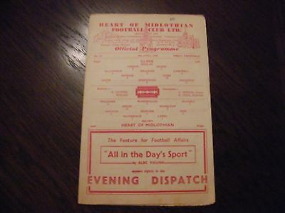 Hearts of Midlothian versus Clyde 1948 season football  programme