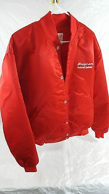 Vintage Snap On satin jacket Preferred customer XXL 2XL Quilted Red