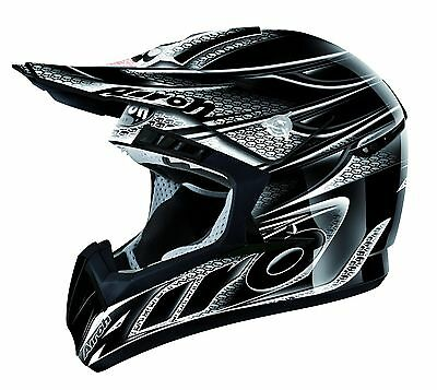 Airoh Cr901 Linear Gloss Black Motocross Helmet Gold Stamped Approved