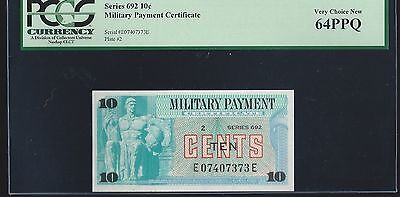 Series 692 Military Payment Certificate 10 Cents  PCGS 64 UNC