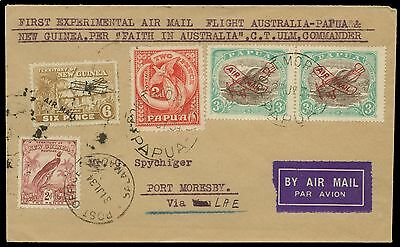 1934 Papua Flight cover to Port Moresby. E1485