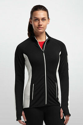 ICEBREAKER Womans Atom Long Sleeve Zip -  Gr. L - SONDERANGEBOT