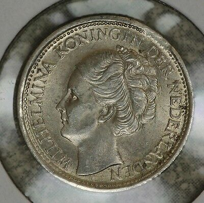 Netherlands 1944-S Acorn Privy 10 Cents Silver Coin -  uncirculated