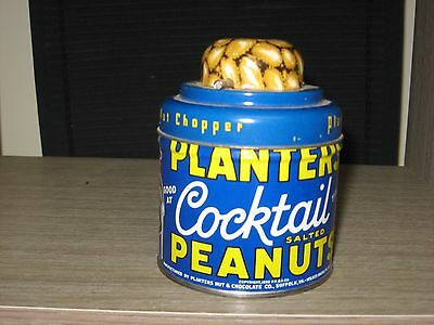 Planters Peanut Tin with NUT GRINDER TOP