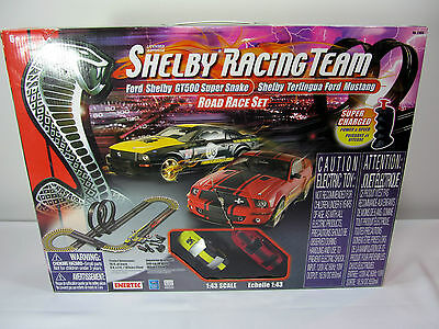 Enertec SHELBY Racing Team Electric Slot Car Track 18ft Road Race Set GT500 1:43