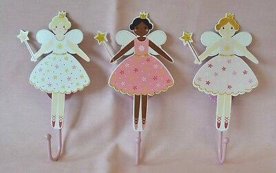 Fairy Princess Childrens Wall Hook Coat Hook Girl's Room
