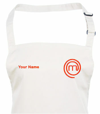 Personalised New Style MasterChef Apron - Embroidered - 11 Apron & Logo Colours