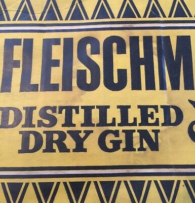 Vintage GIN Advertising Fleischmann's GIN 2 Cardboard Signs 1975 RARE